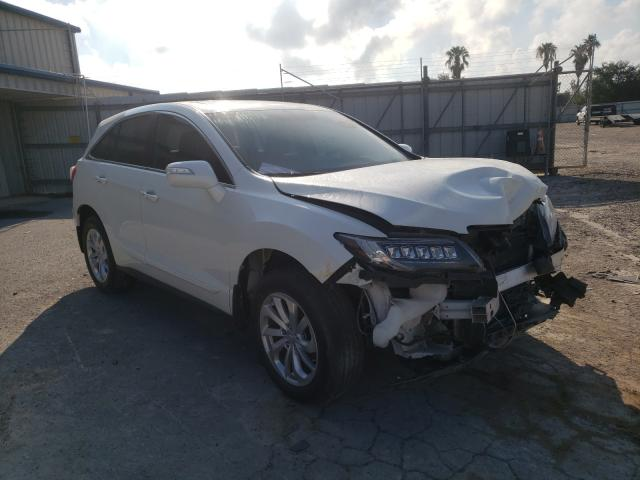 Salvage cars for sale from Copart Mercedes, TX: 2017 Acura RDX Techno