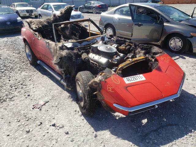 Salvage cars for sale from Copart Bowmanville, ON: 1969 Chevrolet Corvette