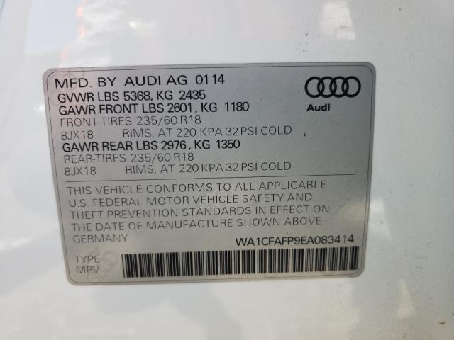 2014 AUDI Q5 PREMIUM WA1CFAFP9EA083414