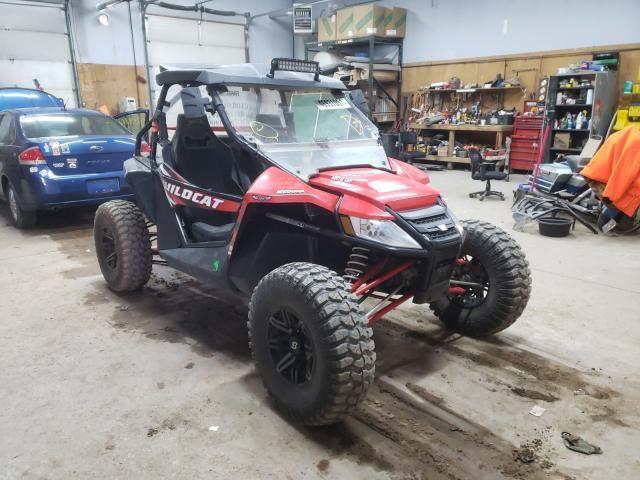 Salvage motorcycles for sale at Kincheloe, MI auction: 2016 Arctic Cat Wildcat