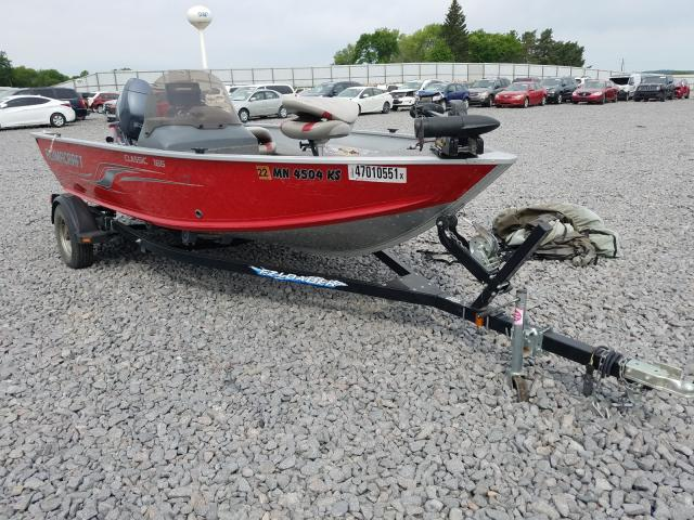 Alumacraft salvage cars for sale: 2011 Alumacraft Boat