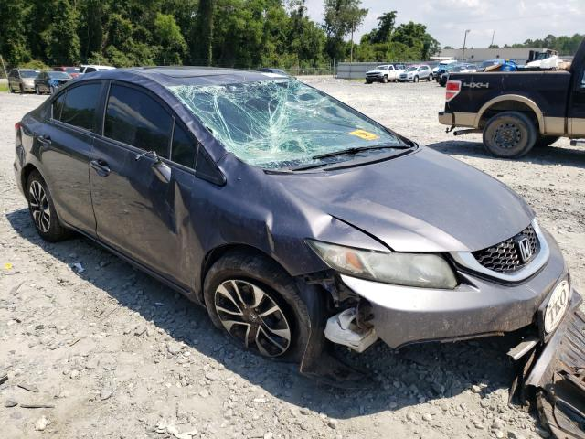 Salvage cars for sale from Copart Tifton, GA: 2014 Honda Civic EX