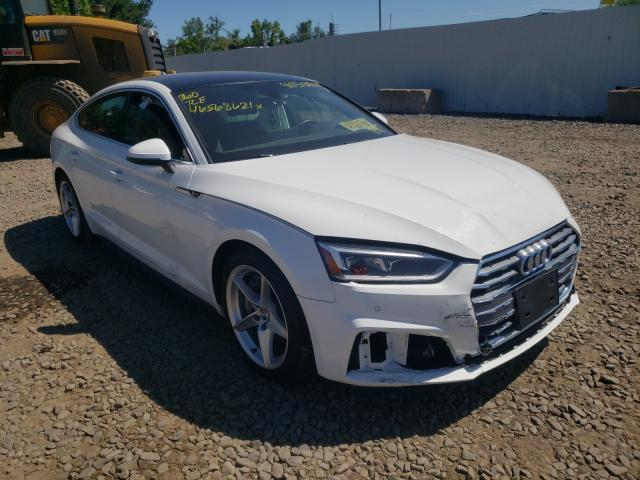 Salvage cars for sale from Copart New Britain, CT: 2019 Audi A5 Premium