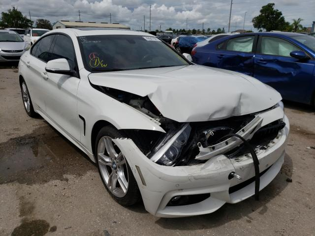 Salvage cars for sale from Copart Riverview, FL: 2018 BMW 440I Gran
