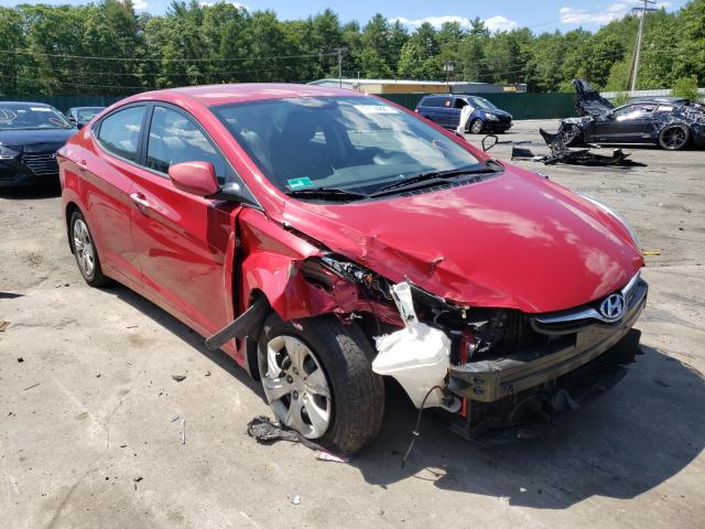 Salvage cars for sale from Copart Exeter, RI: 2016 Hyundai Elantra SE