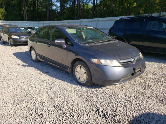 Salvage cars for sale from Copart Knightdale, NC: 2008 Honda Civic Hybrid