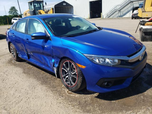 Salvage cars for sale from Copart Montreal Est, QC: 2016 Honda Civic EX