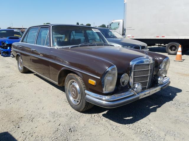 Salvage cars for sale from Copart Antelope, CA: 1972 Mercedes-Benz 280SEL