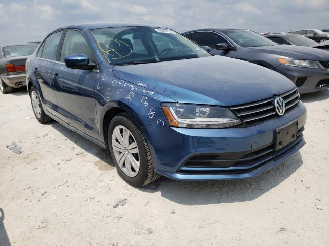 Salvage cars for sale from Copart New Braunfels, TX: 2017 Volkswagen Jetta S