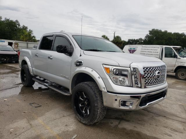 Salvage cars for sale from Copart Punta Gorda, FL: 2017 Nissan Titan SV