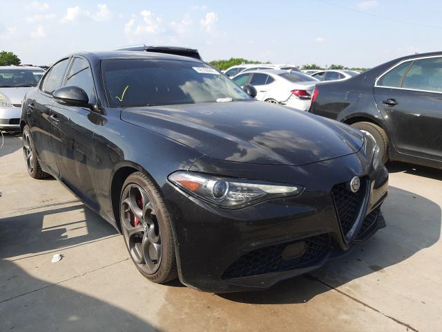 Salvage cars for sale at Grand Prairie, TX auction: 2019 Alfa Romeo Giulia
