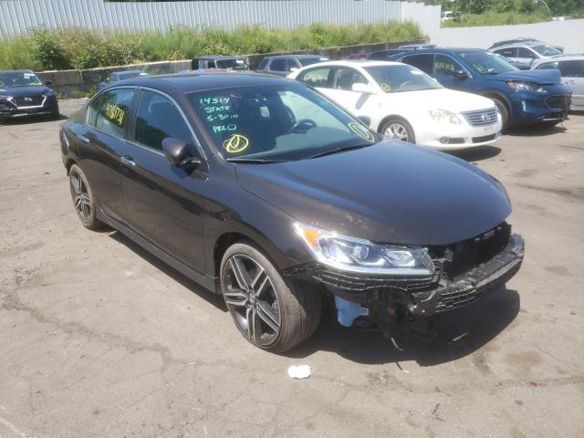 Salvage cars for sale from Copart Marlboro, NY: 2017 Honda Accord Sport