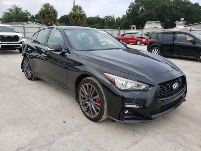Salvage cars for sale from Copart Punta Gorda, FL: 2021 Infiniti Q50 RED SP