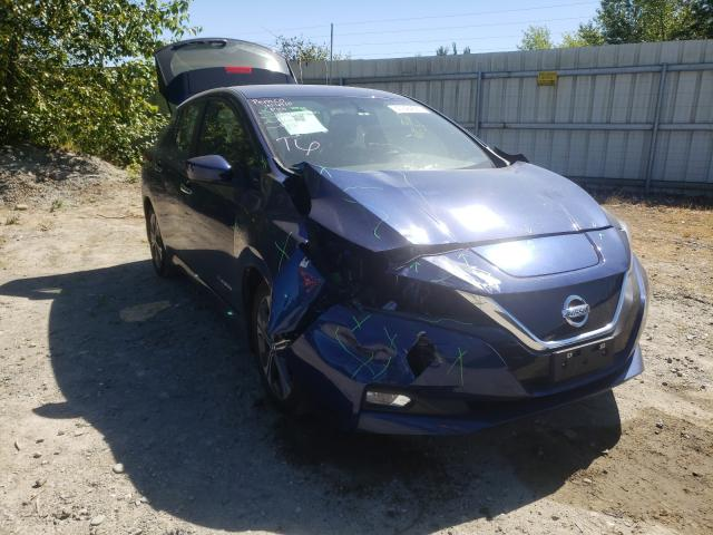 Salvage cars for sale from Copart Arlington, WA: 2018 Nissan Leaf S