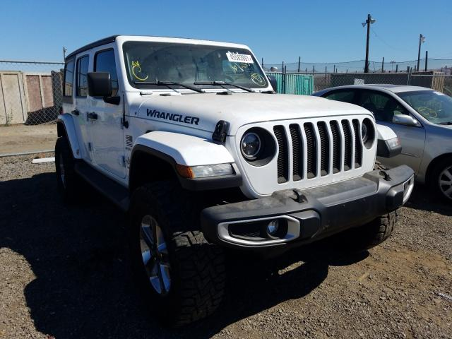 Salvage cars for sale from Copart San Martin, CA: 2019 Jeep Wrangler U