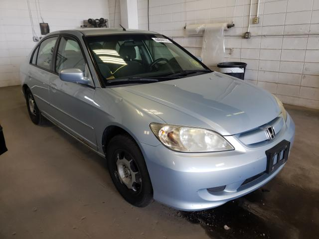 Salvage cars for sale from Copart Blaine, MN: 2004 Honda Civic Hybrid