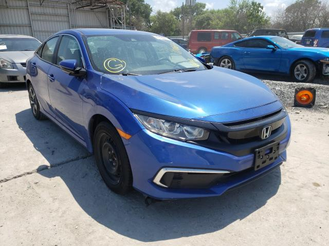Salvage cars for sale from Copart Corpus Christi, TX: 2019 Honda Civic LX