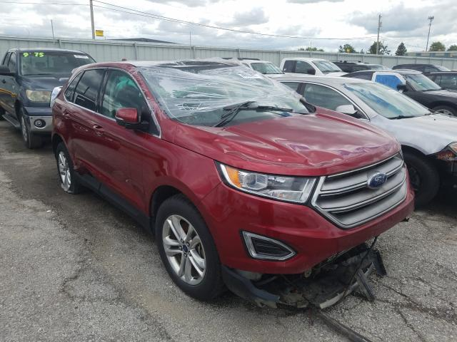 Salvage cars for sale from Copart Dyer, IN: 2018 Ford Edge SEL