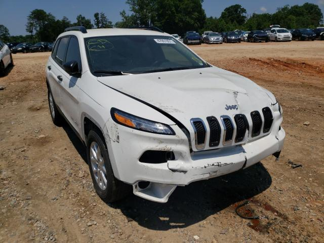 Salvage cars for sale from Copart China Grove, NC: 2016 Jeep Cherokee S