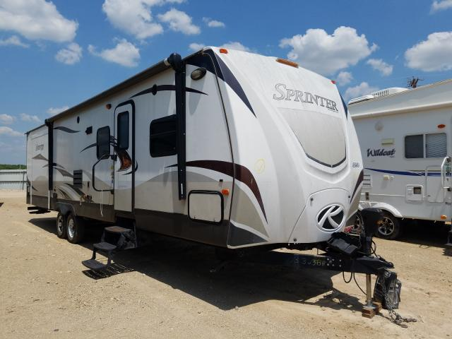 Salvage cars for sale from Copart Abilene, TX: 2014 Keystone Sprinter