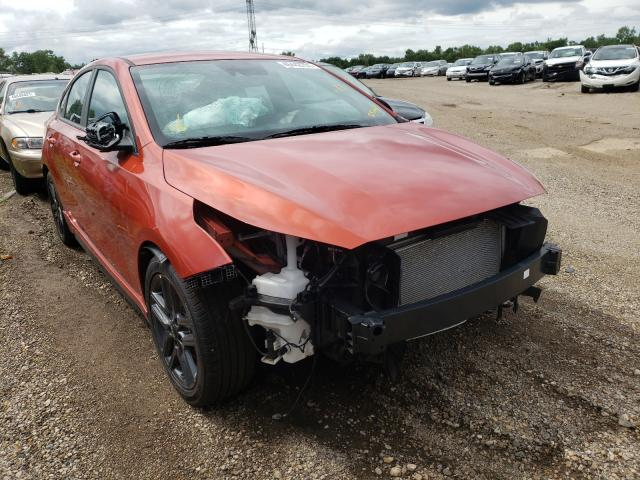 Salvage cars for sale from Copart Pekin, IL: 2020 KIA Forte GT L