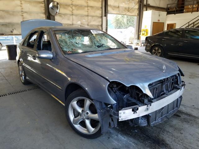 Salvage cars for sale from Copart Graham, WA: 2005 Mercedes-Benz C 230K Sport