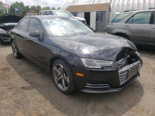 Salvage cars for sale from Copart East Granby, CT: 2017 Audi A4 Premium
