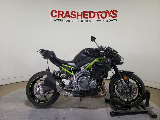 Salvage cars for sale from Copart Dallas, TX: 2019 Kawasaki ZR900