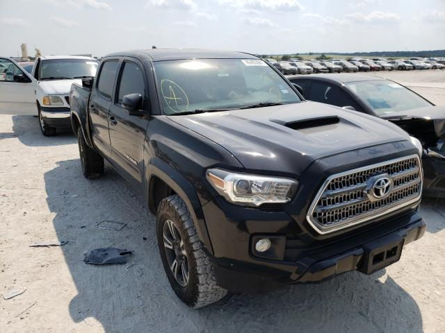 Salvage cars for sale from Copart New Braunfels, TX: 2016 Toyota Tacoma DOU