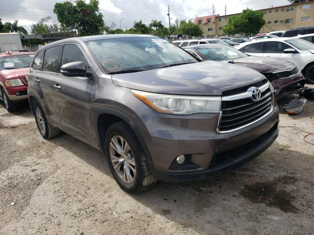 Salvage cars for sale from Copart Opa Locka, FL: 2015 Toyota Highlander