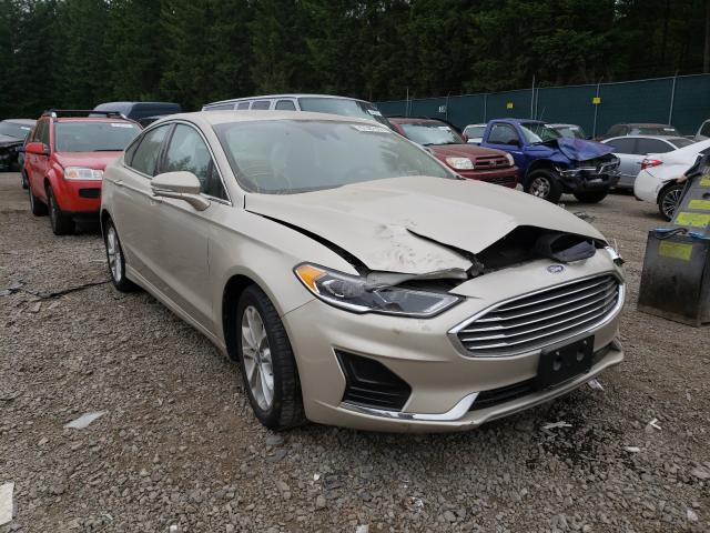 Salvage cars for sale from Copart Graham, WA: 2019 Ford Fusion SEL