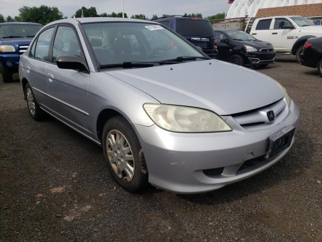 Salvage cars for sale from Copart East Granby, CT: 2005 Honda Civic LX