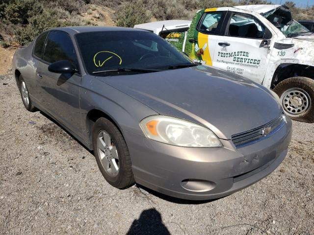 Salvage cars for sale from Copart Reno, NV: 2006 Chevrolet Monte Carl