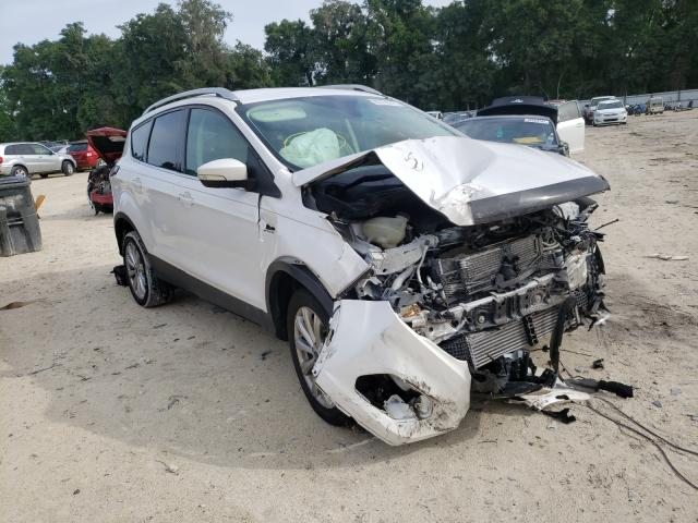 Salvage cars for sale from Copart Ocala, FL: 2017 Ford Escape Titanium