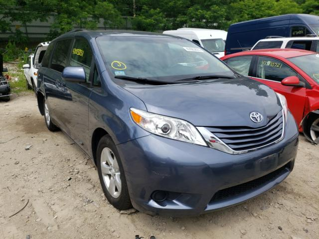 Salvage cars for sale from Copart Mendon, MA: 2016 Toyota Sienna LE