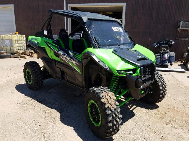 Salvage cars for sale from Copart Billings, MT: 2020 Kawasaki KRF 1000 A