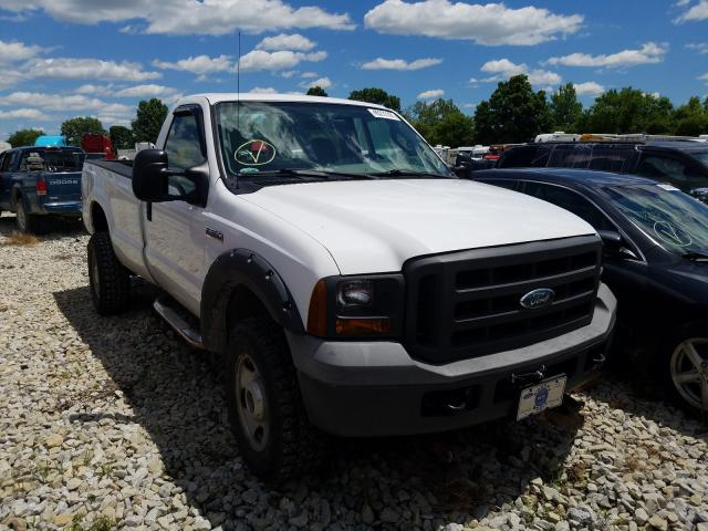 Salvage cars for sale from Copart Cicero, IN: 2005 Ford F350 SRW S