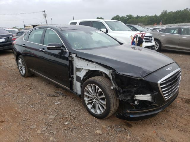Salvage cars for sale from Copart Hillsborough, NJ: 2017 Genesis G80 Base