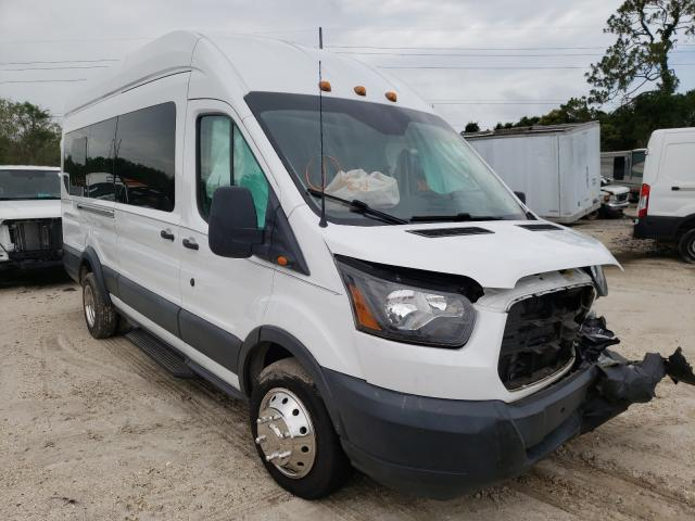 Salvage cars for sale from Copart Riverview, FL: 2015 Ford Transit T