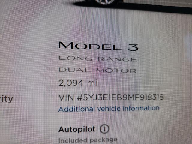 2021 TESLA MODEL 3, 5YJ3E1EB9MF****** - 8