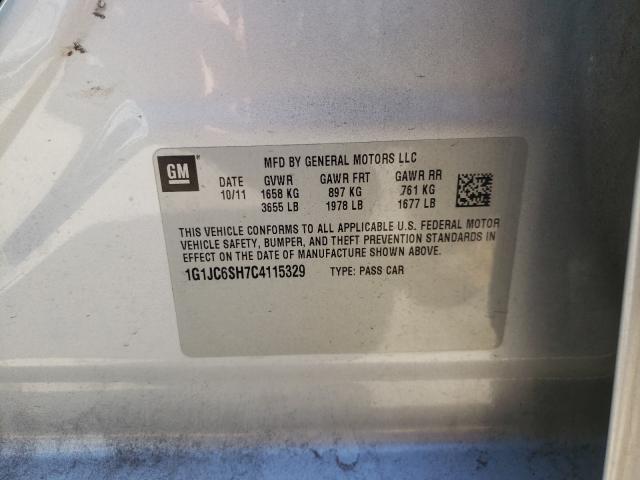 2012 CHEVROLET SONIC LT 1G1JC6SH7C4115329