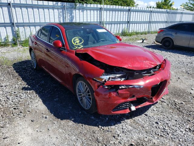 Salvage cars for sale from Copart Bowmanville, ON: 2020 Alfa Romeo Giulia TI