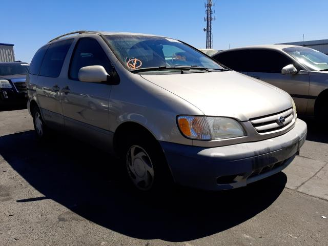 Salvage cars for sale from Copart Fresno, CA: 2003 Toyota Sienna LE