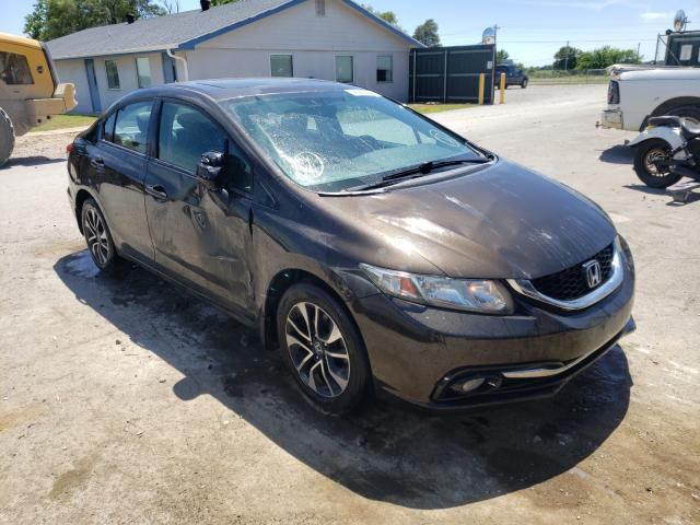Salvage cars for sale from Copart Sikeston, MO: 2013 Honda Civic EXL