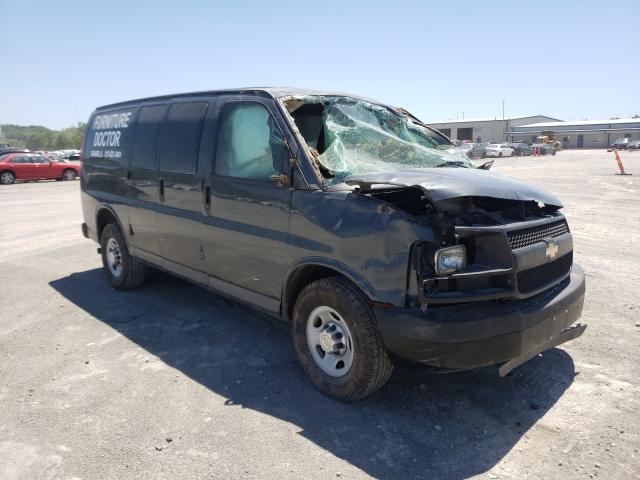 Salvage trucks for sale at Alorton, IL auction: 2014 Chevrolet Express G2