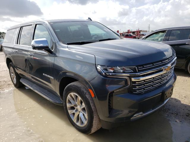 Salvage cars for sale from Copart Houston, TX: 2021 Chevrolet Suburban C