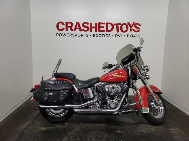 Salvage cars for sale from Copart Ham Lake, MN: 2008 Harley-Davidson Flstc