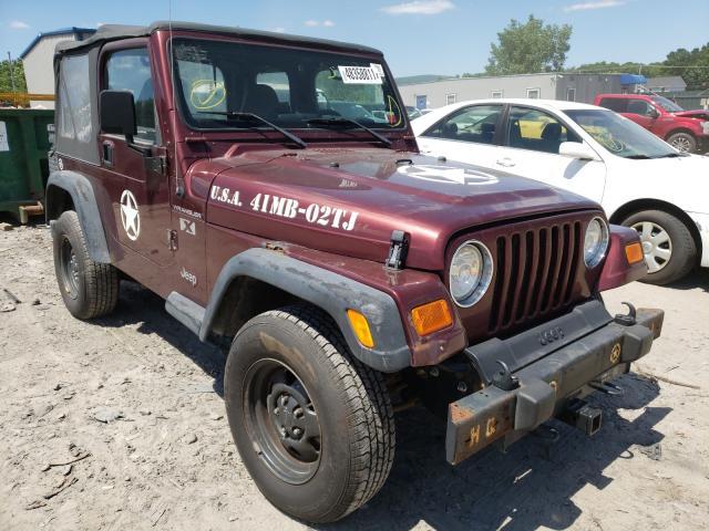 Jeep Wrangler salvage cars for sale: 2002 Jeep Wrangler
