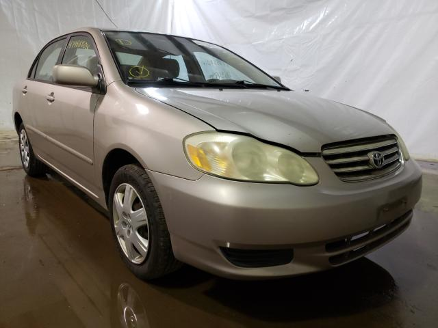 Salvage cars for sale from Copart Central Square, NY: 2003 Toyota Corolla CE