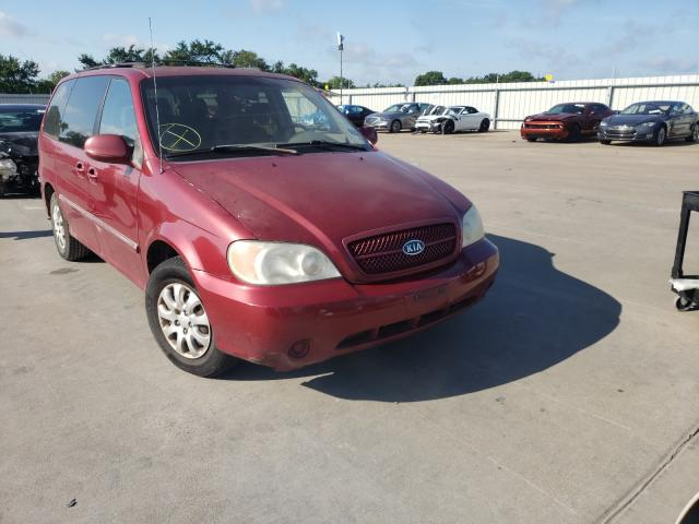 Salvage cars for sale from Copart Wilmer, TX: 2005 KIA Sedona EX